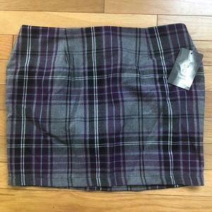 Urban Renewal Plaid Skirt